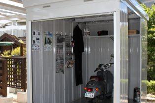 イナバ物置 バイク保管庫<br /> バイクの保管庫としても趣味の整備場としてお使いいただける、イナバ物置人気のシリーズ。様々なサイズ、オプションがあります。