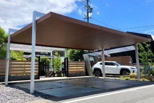 三協アルミ U.スタイル アゼスト<br />最大間口12mのフレームで、様々な敷地条件に合わせた設置が可能なプレミアムカーポート